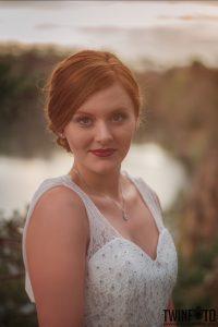 Rote Lippen dezente Augen Braut Makeup- Obsidian MUA