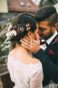 Obsidian Make Up Artist Bridal Styling Autumn Theme Close Up Couple